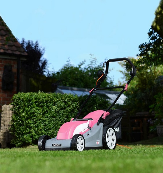In the pink with the Cobra Breast Cancer Now lawnmower