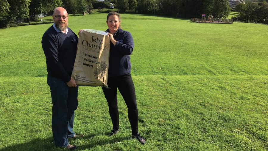 John Chambers Wildflower seed makes a B-Line to help pollinators in Skipton