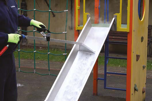 Weedingtech keeps play equipment safe