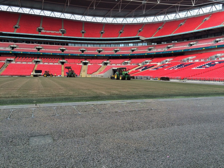 Winter a thing of the past at Wembley Stadium