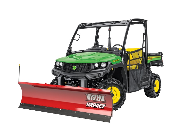 New snow blades and spreaders for John Deere Gators
