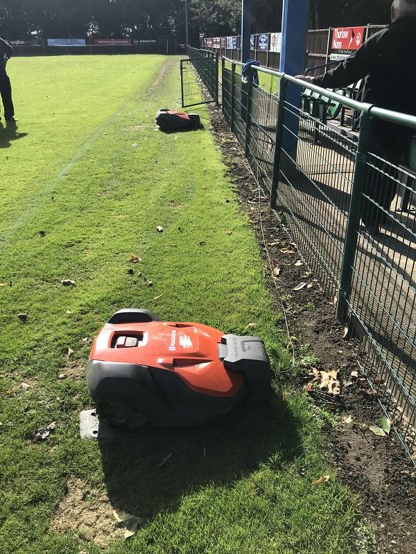 Wroxham Football Club kick off the season with Husqvarna Automower