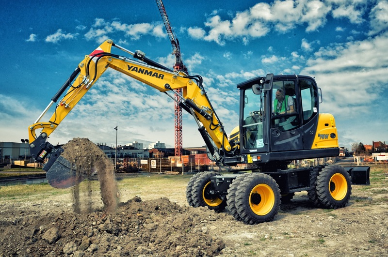 Yanmar launches all-new B75W-5 compact wheeled excavator