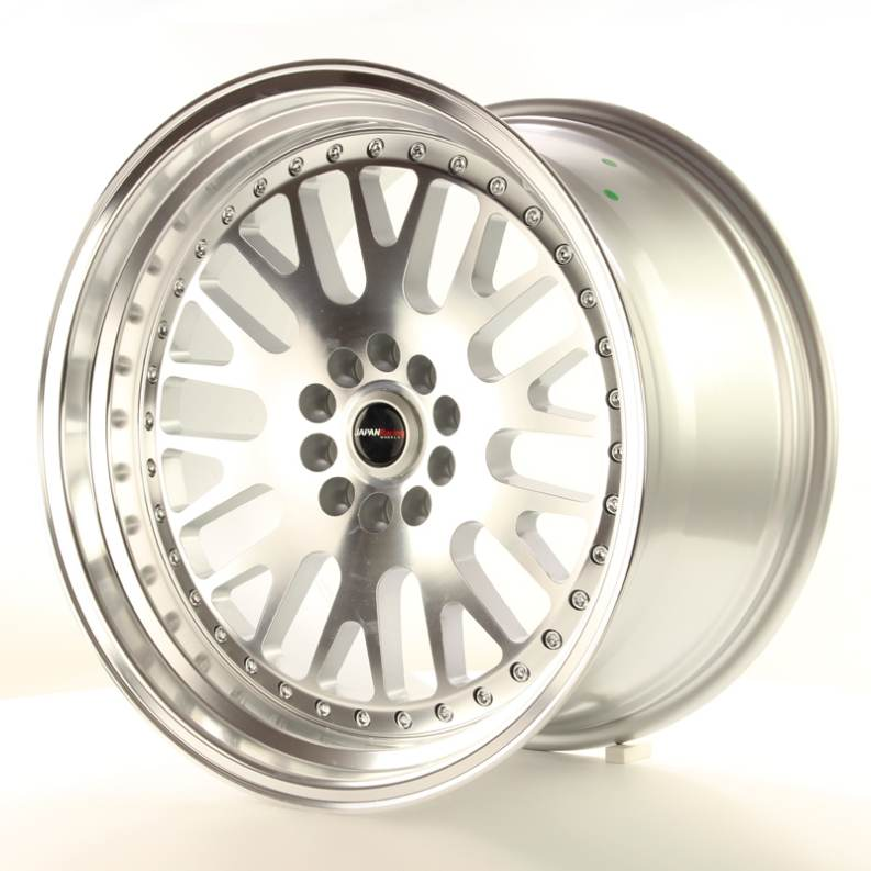LLANTAS JAPAN RACING JR-10 PLATA (REPLICA BBS)