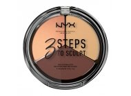 Paleta conturare NYX Professional Makeup 3 Steps To Sculpt Medium