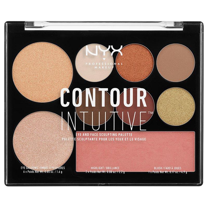 Trusa Machiaj Nyx Professional Makeup Contour Intuitive Palette