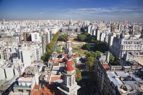 Buenos Aires aus der Vogelperspektive