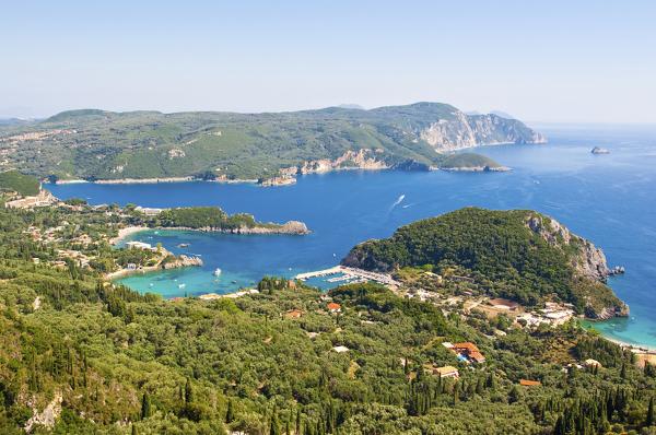 Korfu und die Bucht von Palaiokastritsa