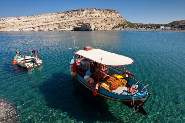 Bucht in der kretischen Region Matala