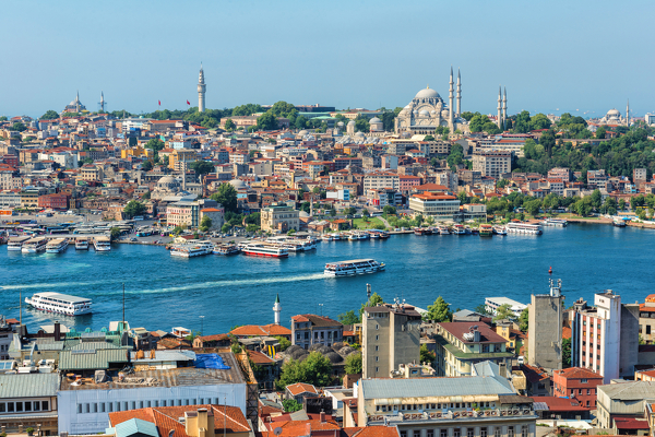Istanbul mit Bosporus