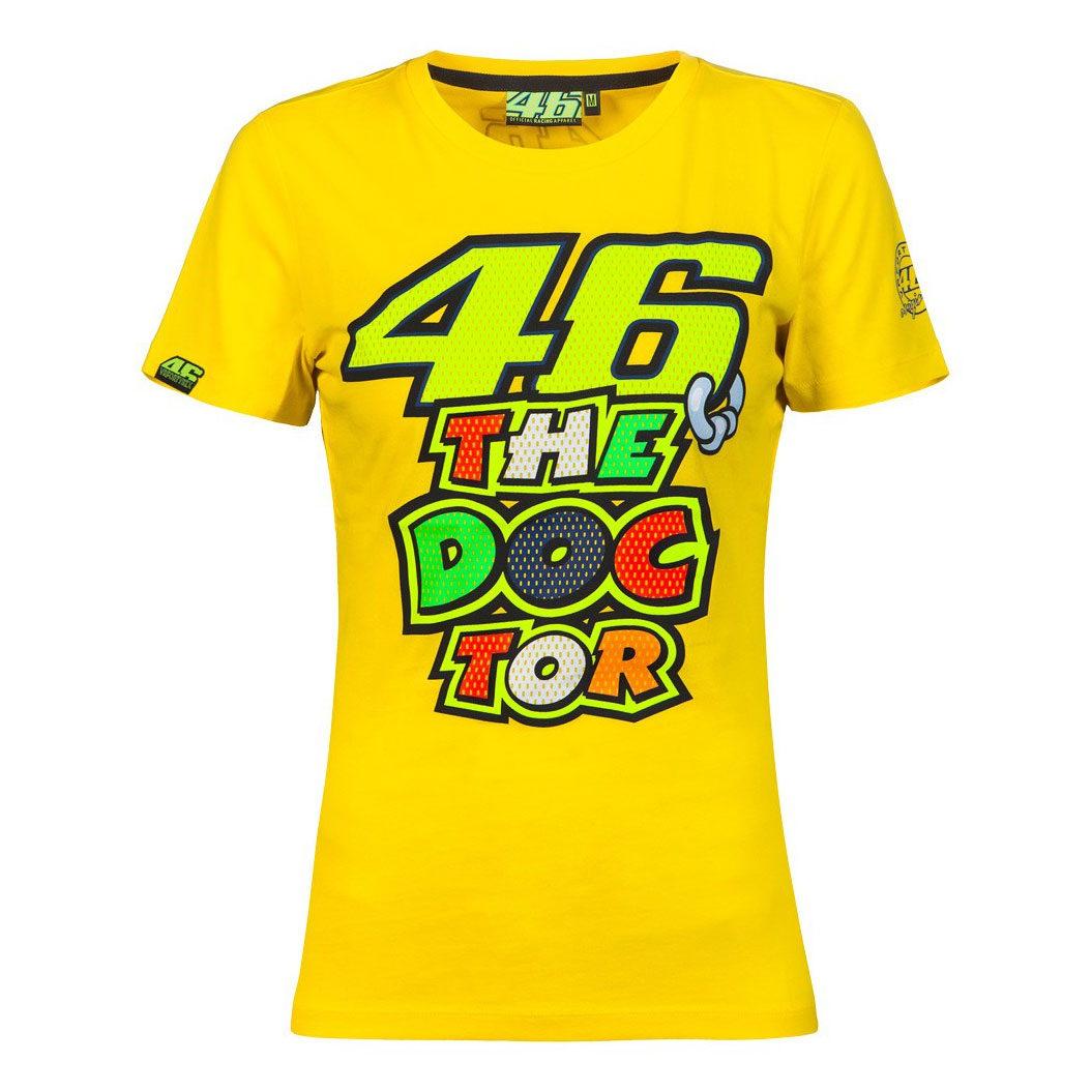 VR|46 Valentino Rossi The Doctor Women Tee Yellow MotoGP