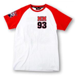 Camiseta MARC MARQUEZ 93 Blanca - mmmts158706