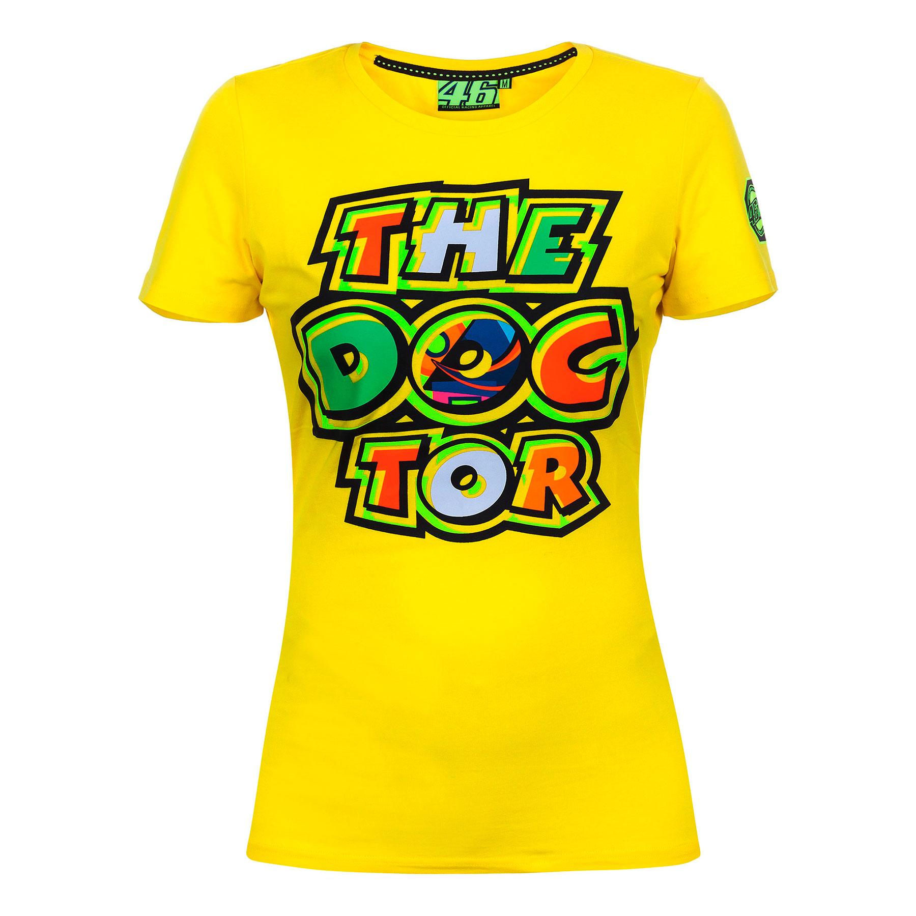 fb28e52a05 Camiseta Valentino Rossi Mujer The Doctor Amarilla 2017 en Motorbike ...