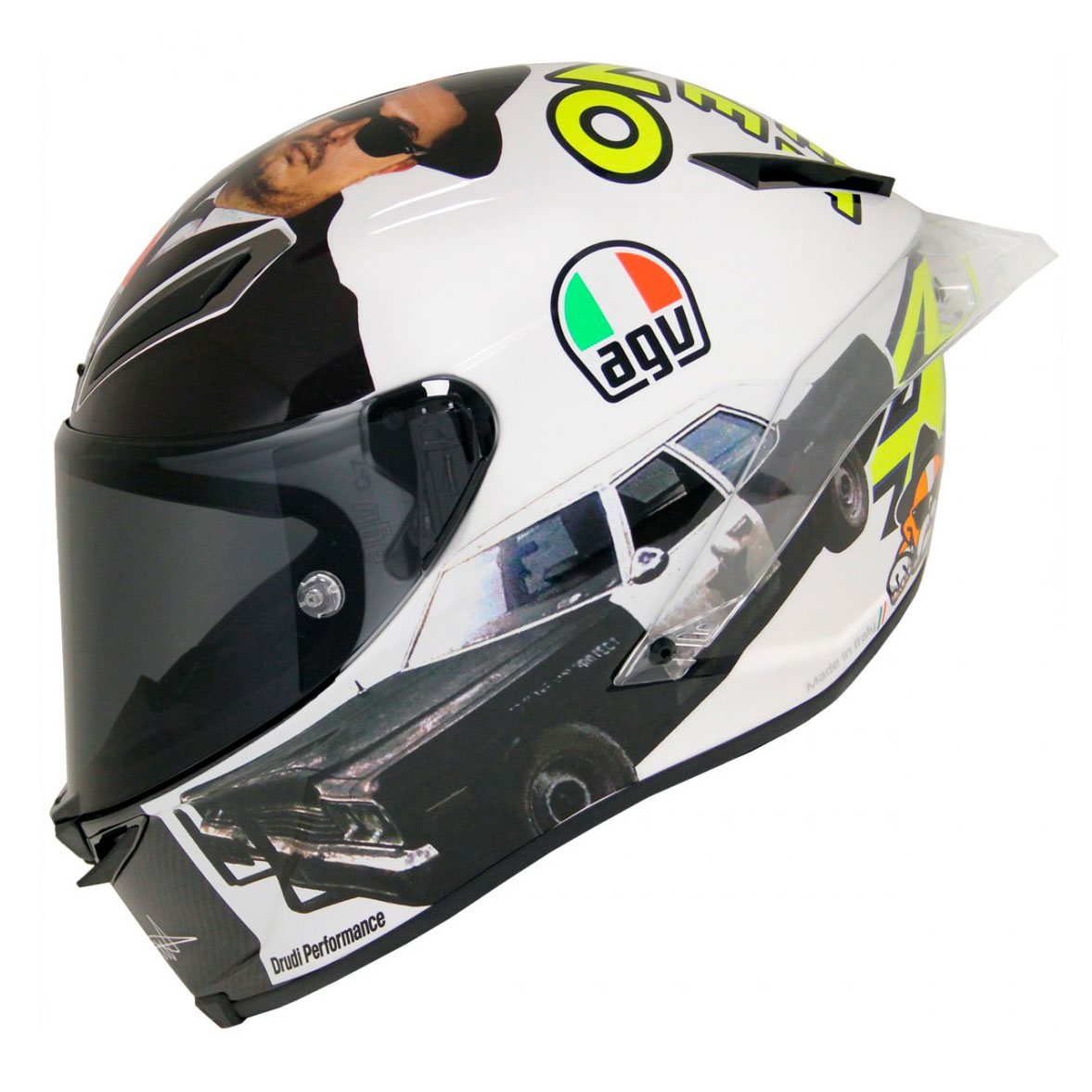 Casco Agv Pista Gp R Rossi Misano 2016 Pinlock En