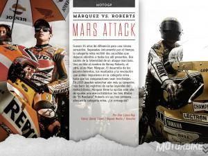 Mars Attack: cara a cara entre Marc Márquez y Kenny Roberts - Motorbike Magazine #01