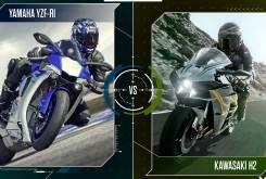 Yamaha yzf-r1 contra Kawasaki ninka H2
