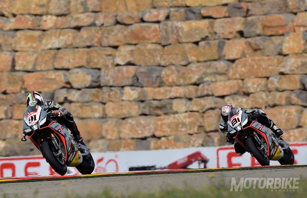 Leon Haslam Jordi Torres Aprilial WSBK 2015 Motorland mbk04 - Motorbike Magazine