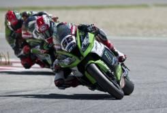 Jonathan Rea Tom Sykes Kawasaki WSBK Donington 2015 - Motorbike Magazine