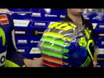 Valentino Rossi casco Mugello AGV 12
