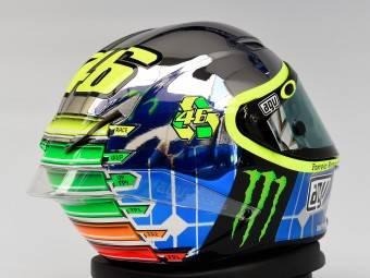 Valentino Rossi casco Mugello AGV 16