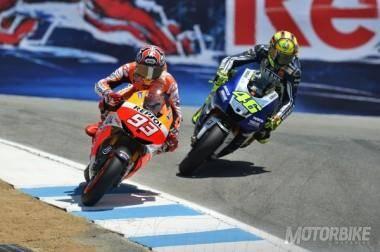 Marc Márquez Valentino Rossi Laguna Seca MotoGP 2013 - Motorbike Magazine