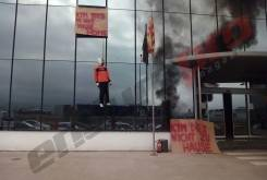 KTM Gas Gas ahorcado maniqui