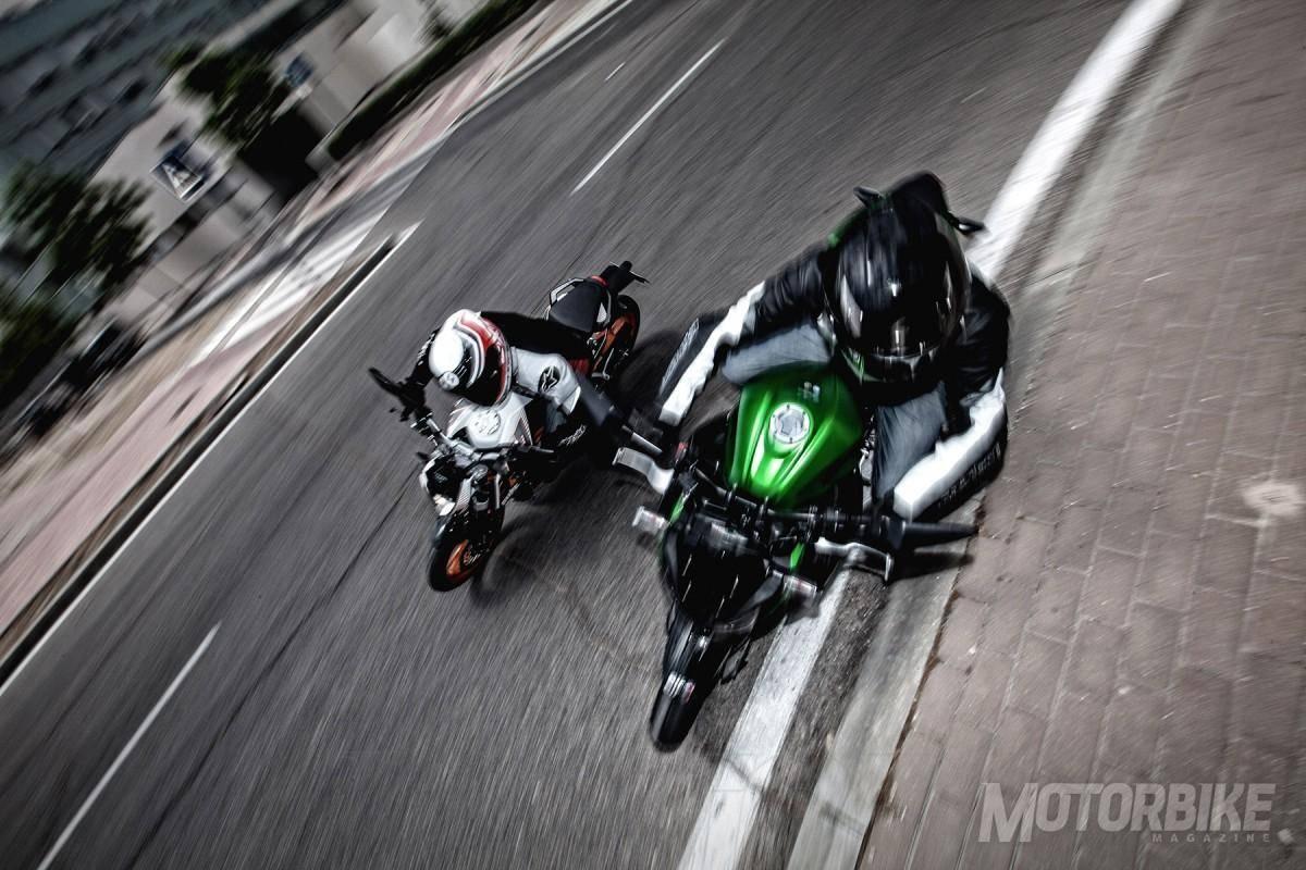 Comparativa Kawasaki Z300 KTM Duke 390