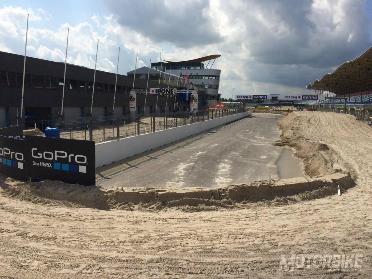 El circuito de Assen, convertido en una pista de motocross para este fin de semana. (Foto: TT Assen)