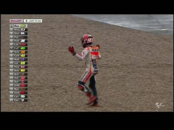 Marc Marquez Caida Silverstone MotoGP 2015