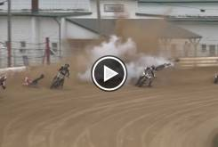 accidente Shawn Baer Indy Mile Flat Track
