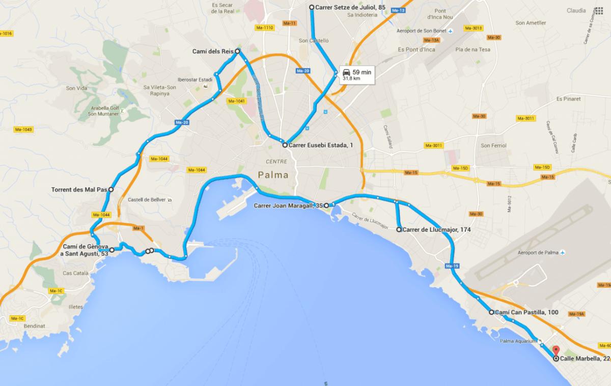 Ruta Palma de Mallorca DGR 2015