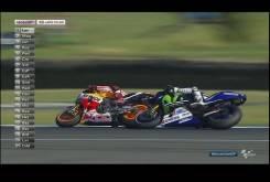 MotoGP Australia 2015 - Adelantamientos Márquez Rossi