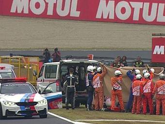 Alex de Angelis accidente GP Japon