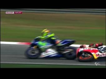 Video GP Malasia Rossi Marquez 04