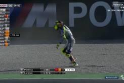 Rossi caida entrenamientos 15