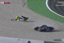 Rossi caida entrenamientos 9