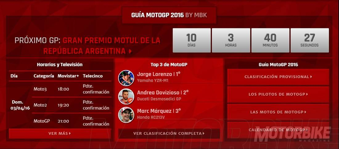 Guia MotoGP 2016 by Motorbike Magazine