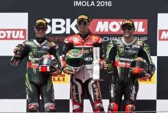 Chaz Davies Jonathan Rea Tom Sykes WSBK Imola 2016 - Motorbike Magazine