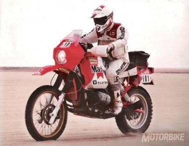 Gaston Rahier en el Dakar con la BMW