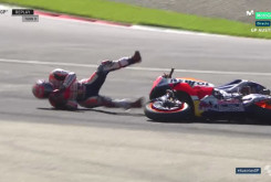 Caída Marc Márquez FP3 Austria 23