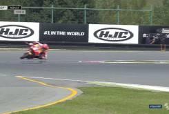 Caida salvada Marc MarquezFP2 Brno 201612
