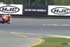 Caida salvada Marc MarquezFP2 Brno 201613