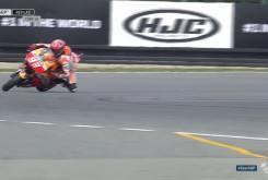Caida salvada Marc MarquezFP2 Brno 201615