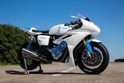 triumph thruxton white bike 14