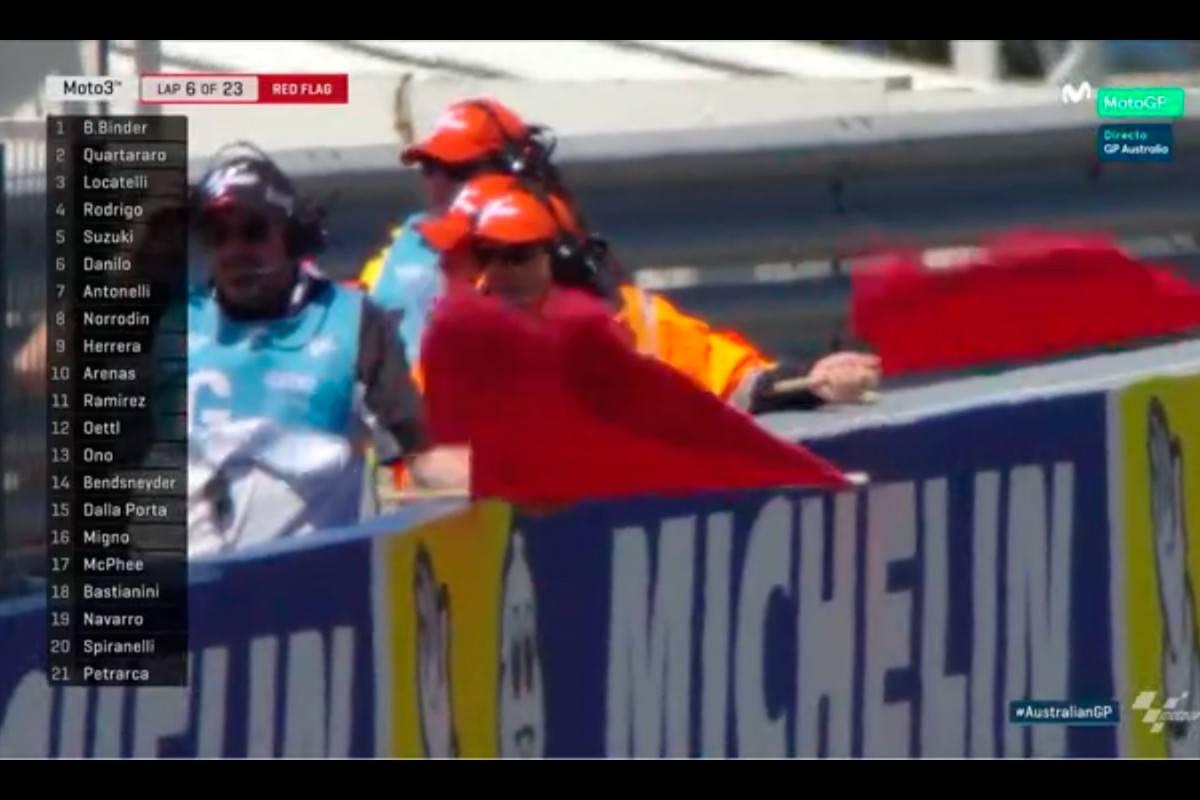 Moto3 Australia 2016: Bandera roja tras un espectacular accidente ...