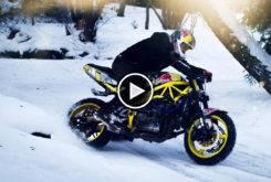 snow drifting motorbike stunt rider arunas gibieza video