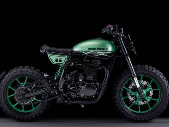 Royal Enfield Continental GT Green Fly 01