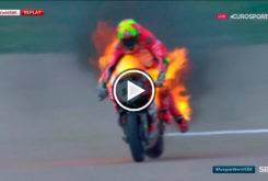 Xavi Fores incendio Ducati WSBK Aragon 2017