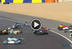 Caida Multiple Moto3 LeMans 2017 (000)