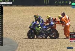 Caida Valentino Rossi Le Mans 201720